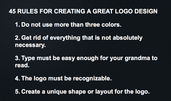 45 Rules for Creating a Logo